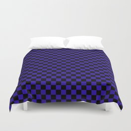 Blue Black Plaid Design Duvet Cover