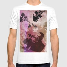 music White MEDIUM Mens Fitted Tee