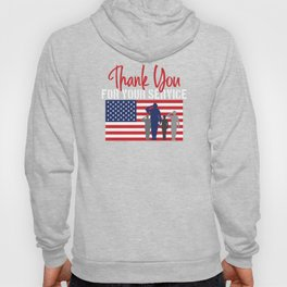 Thank You For Your Service Patriotic Veteran Hoody