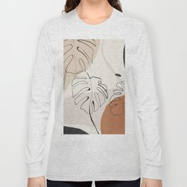 Minimal Abstract Art- Monstera Long Sleeve T-shirt