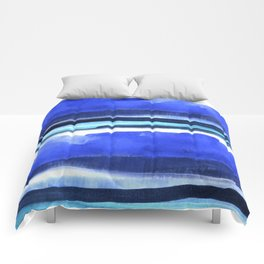 Wave Stripes Abstract Seascape Comforters