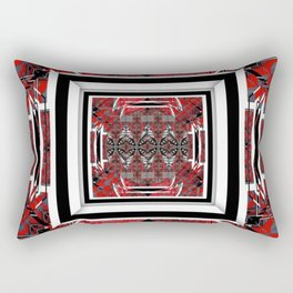 NUMBER 221 RED BLACK GRAY WHITE PATTERN Rectangular Pillow