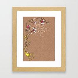 Moon pollination Framed Art Print