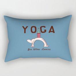 Yoga for Wine Lovers Rectangular Pillow