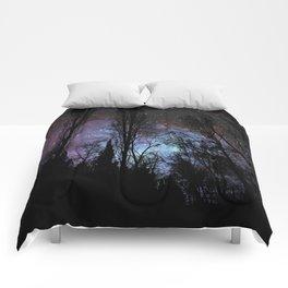 Black Trees Dark Space Comforters