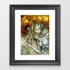 Golden Dryad Framed Art Print