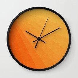 Shades of Sun - Line Gradient Pattern between Light Orange and Pale Orange Wall Clock