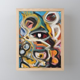 Eye of the Storm Art Expressionism Abstract Framed Mini Art Print