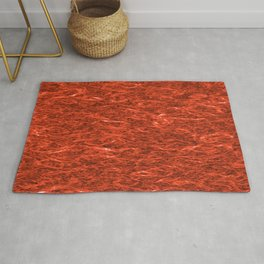 Horizontal metal texture of bright highlights on brown waves. Rug