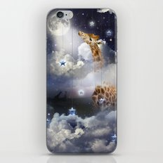 Shoot For The Moon (Giraffe In The Clouds) iPhone & iPod Skin