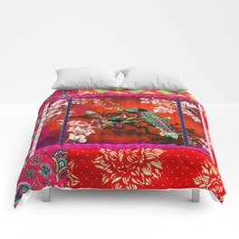 An afternoon in the oriental gardem Comforters