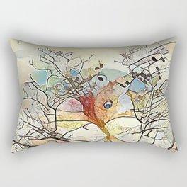 Tree Abstract Rectangular Pillow