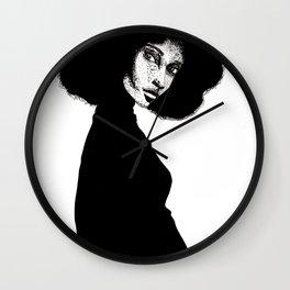 Woman b&w Wall Clock