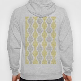 Yellow Gray Damask Hoody
