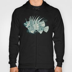 fish mirage teal Hoody