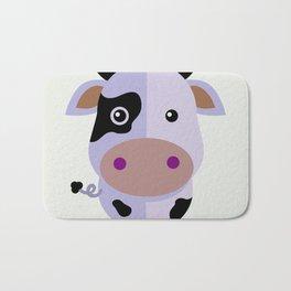 Purple cow by Leslie harlo Bath Mat