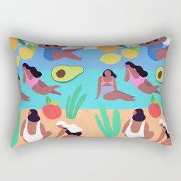 Fruity Beach Rectangular Pillow