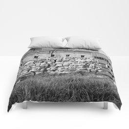 Block Wall Ruin Comforters
