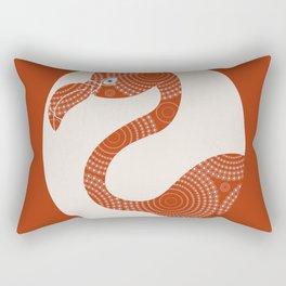 Floral Flamingo Rectangular Pillow