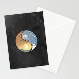 OPPOSITES LOVE - Yin-Yang Tree: Summer-Winter 2 Stationery Cards