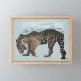 Bowing Tiger Framed Mini Art Print