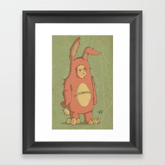 I Like My New Bunny Suit Framed Art Print