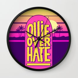 Ollie over hate Wall Clock