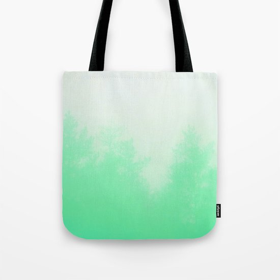 Out of focus - cool green Tote Bag