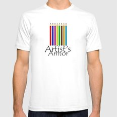 Artist's Armor White Mens Fitted Tee SMALL