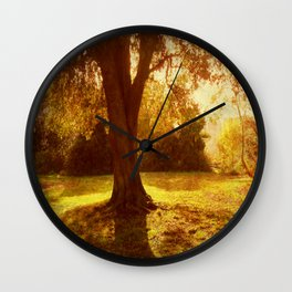 A Pleasant Place to Sit. Wall Clock