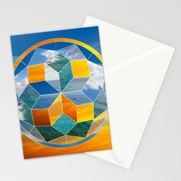 Sacred geometry sunset Stationery Cards