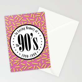 """In Memory of """"The 90's"""" Stationery Cards"""