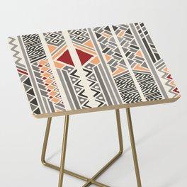 Tribal ethnic geometric pattern 034 Side Table