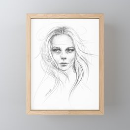 Fade away Framed Mini Art Print
