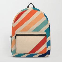 Vintage Retro 70s Rainbow Backpack