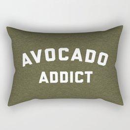 Avocado Addict Funny Quote Rectangular Pillow