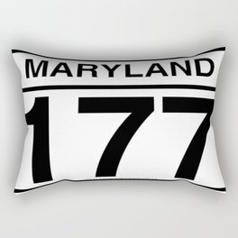"Mountain Road ""Route 177""  Rectangular Pillow"