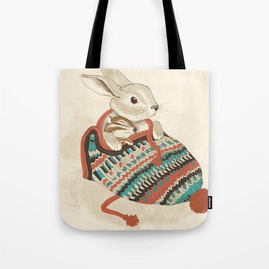 cozy chipmunk Tote Bag