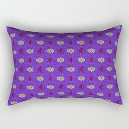 Saved by the Bellding 80s 90s Aztec Acid Wash Pattern Rectangular Pillow