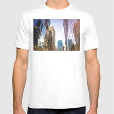 Reflecting White Mens Fitted Tee MEDIUM