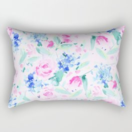Scattered Lovers Pink Rectangular Pillow