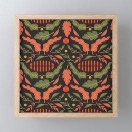 Vintage Floral Pattern 010 Framed Mini Art Print