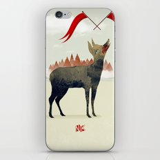 Wood Hyena iPhone & iPod Skin
