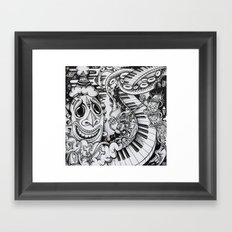 Music Is The Key Framed Art Print