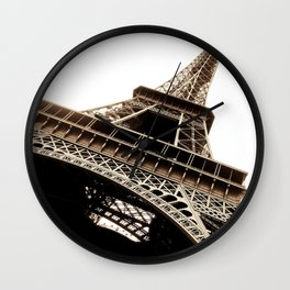 Eiffel Tower Material Wall Clock