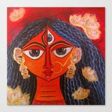 Durga, as bride. Commissioned art.  Canvas Print