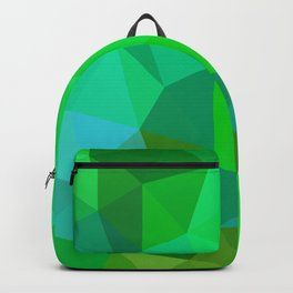 Emerald Low Poly Backpack