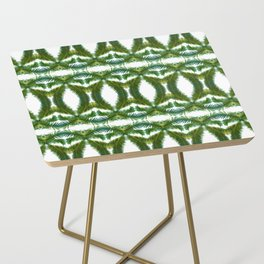 Palm Leaf Kaleidoscope (on white) #2 Side Table