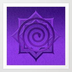 okataar purple mandala Art Print