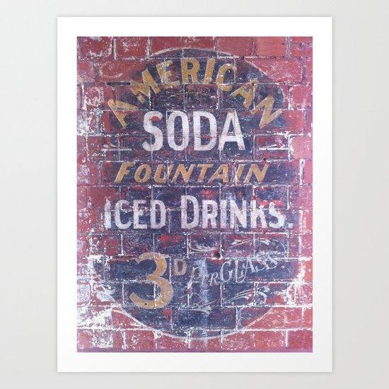 American Soda Art Print